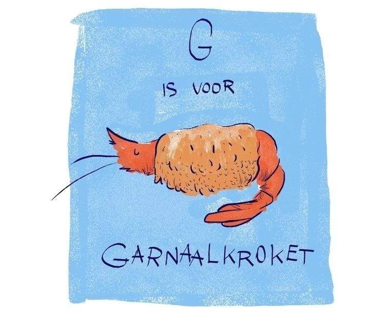 Garnaalkroket - shrimp, illustration - loratarn | ello