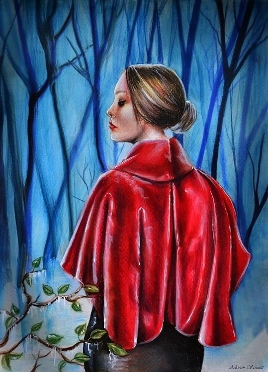 Red Winter - illustration, drawing - adriennschmitt | ello