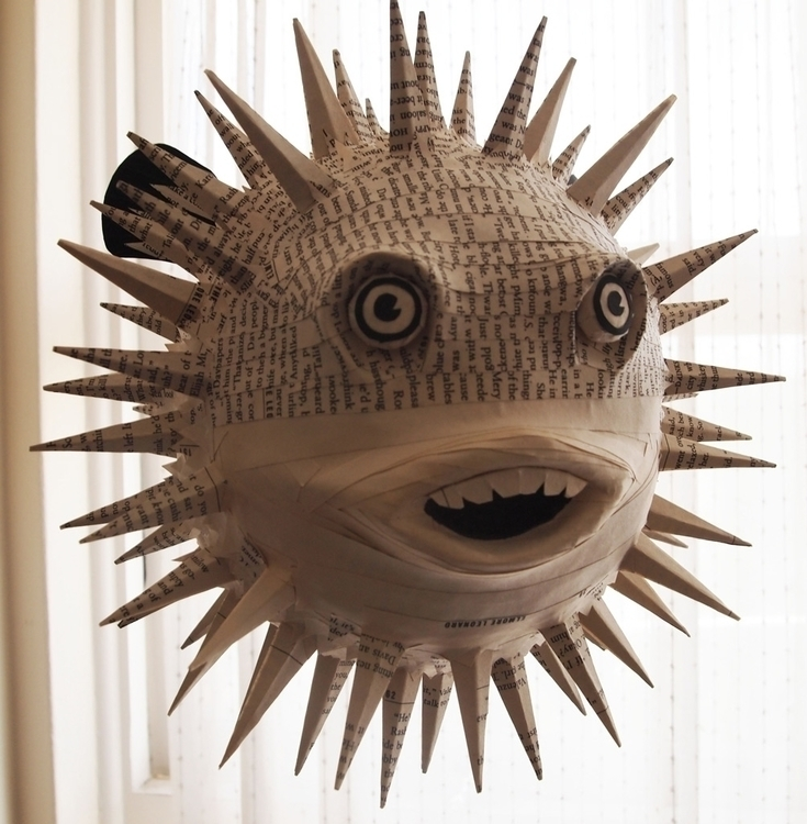Puffy - pufferfish, papersculpture - janakilele | ello