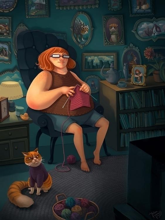 Cat Lady - catlady, cat - mel-1081 | ello