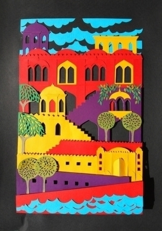 India - papercut, india, colourful - janakilele | ello