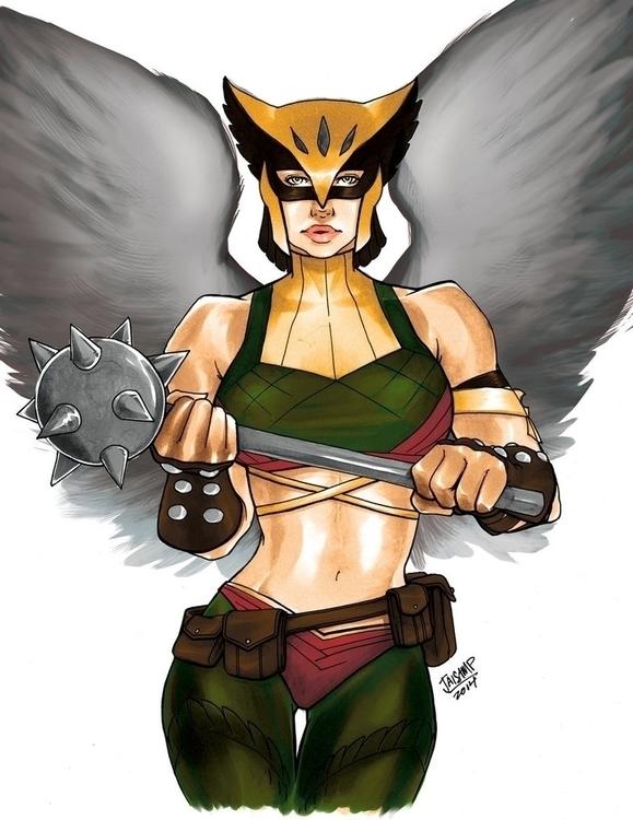 Hawkgirl - drawing, dccomics, dc - jaisamp | ello