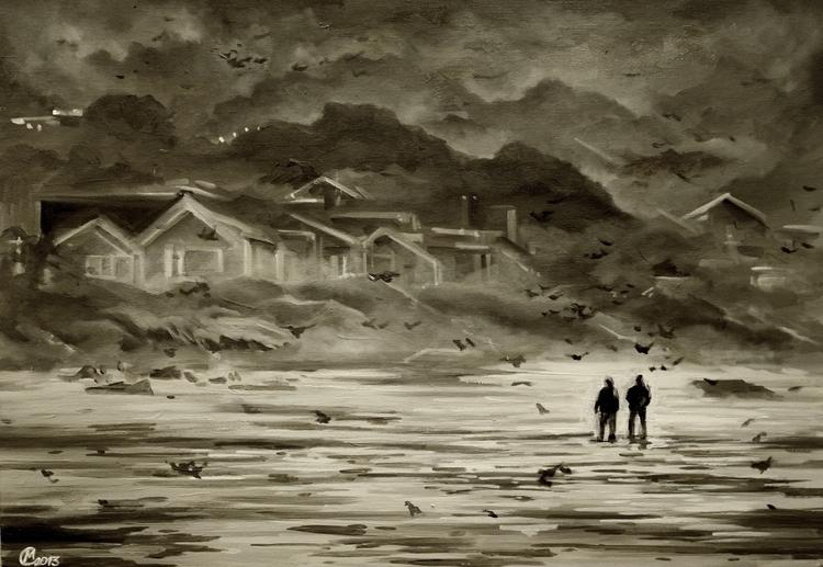 Sadness - sadness, walking, beach - lanamarandina | ello