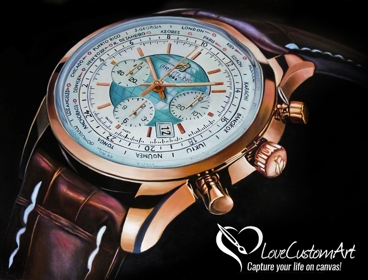 Oil Painting Breitling watch - oilpainting - lovecustomart | ello