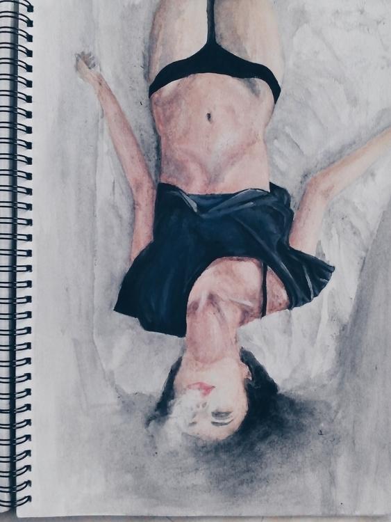 devil - smoke, watercolor, sketch - frhhnnhzmn | ello