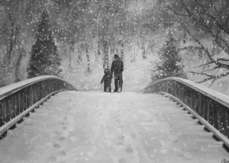 Hold hand - kid, child, family, snow - lanamarandina | ello