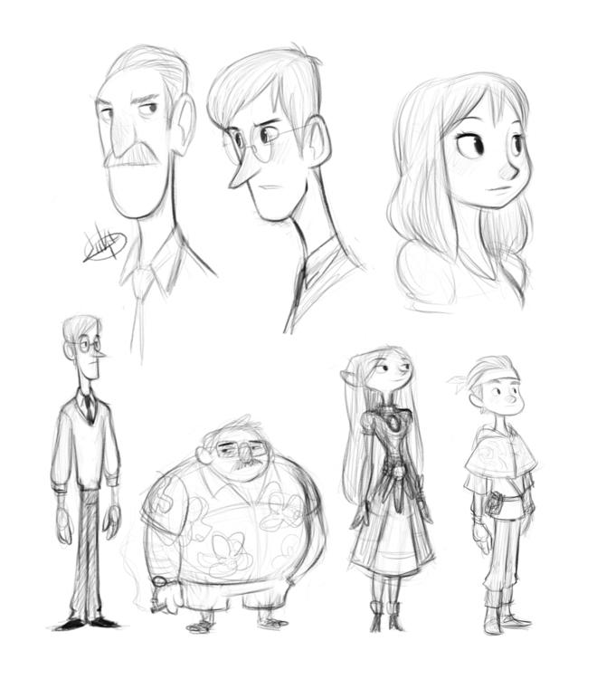 sketching random sketches today - luigil-2352 | ello