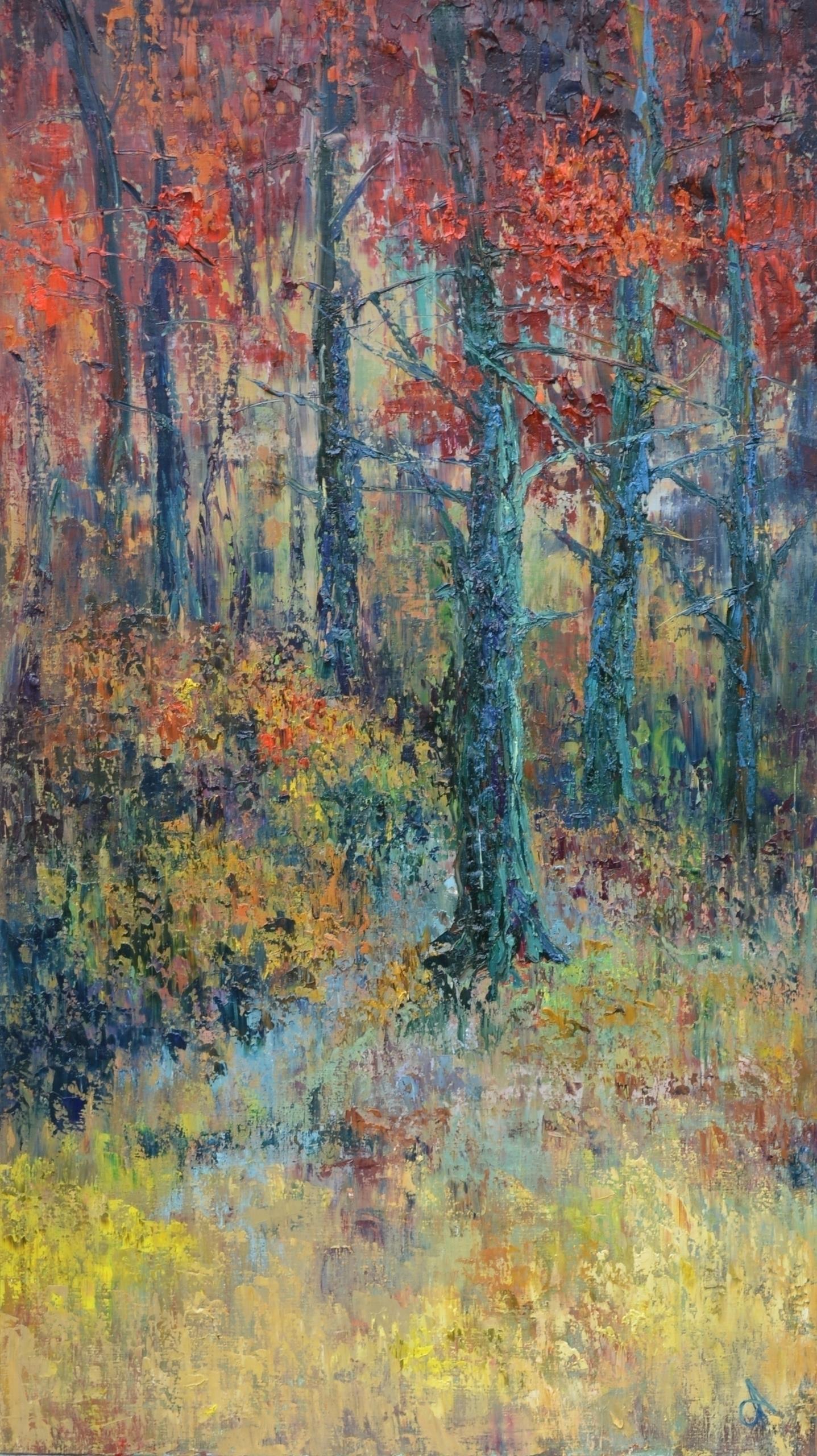 Autumn forest 160x90 Oil canvas - tanya_vasilenko   ello