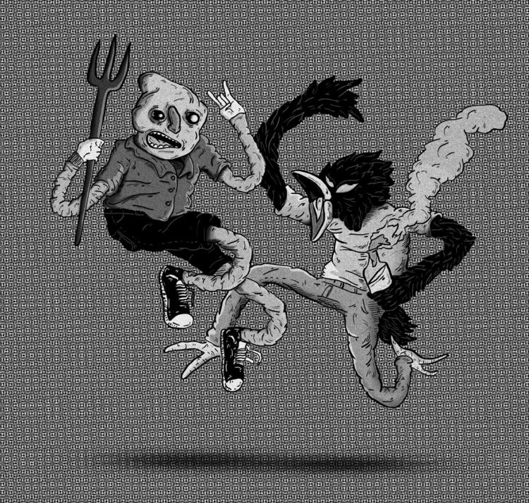jumping - illustration, characterdesign - elrodro | ello