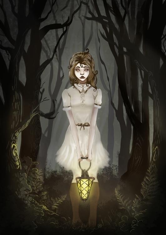 Ghost Girl - illustration, ghost - timvanwyns | ello