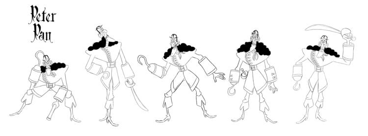 character poses Captain Hook Pe - finbarcoyle | ello