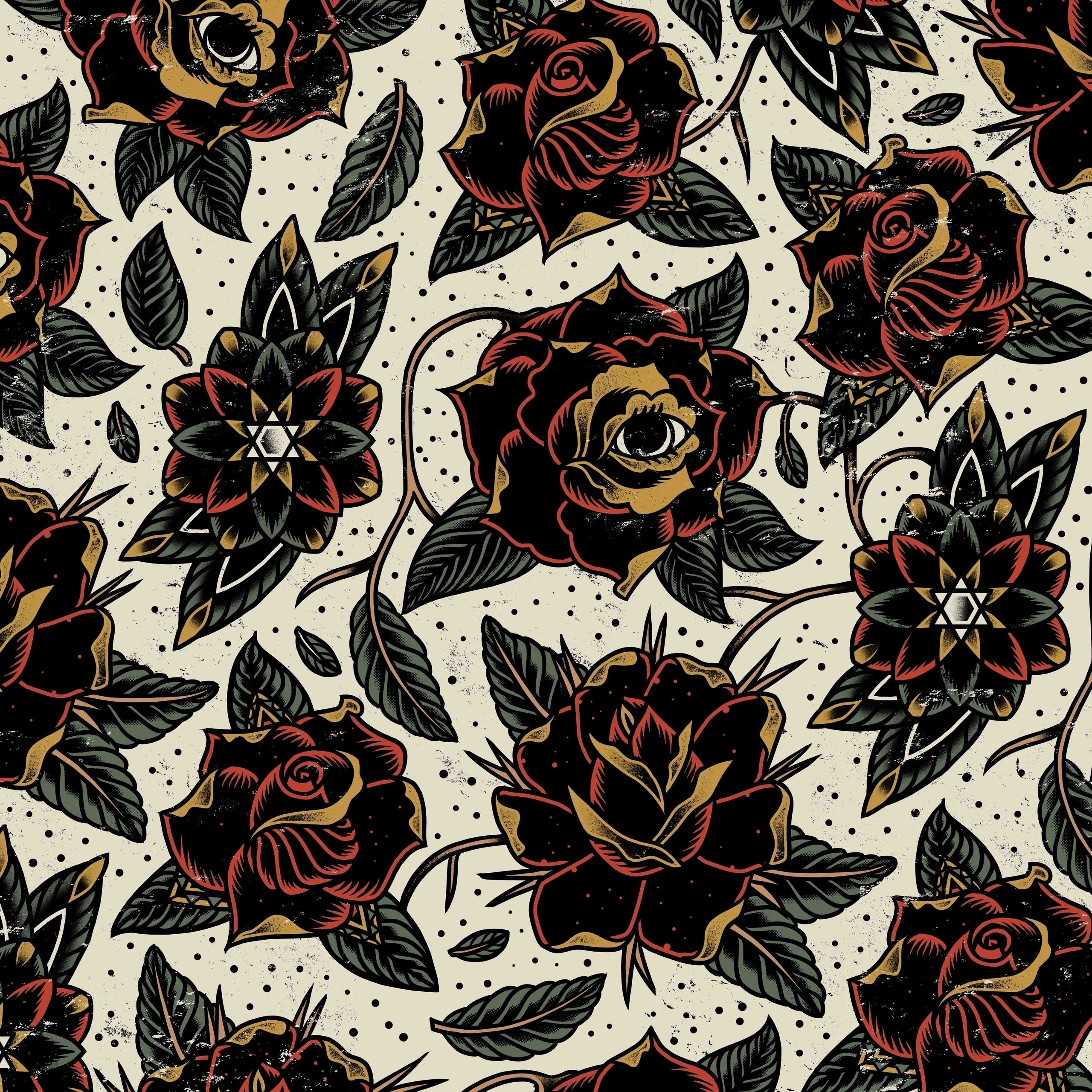 Imagine flowers pattern asset - illustration - muledraws | ello