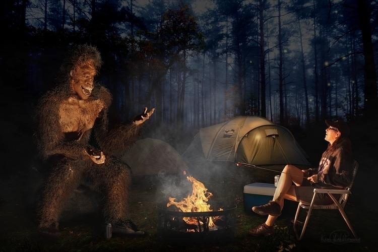 Camping Bigfoot Created bigfoot - kimwhit-2847 | ello