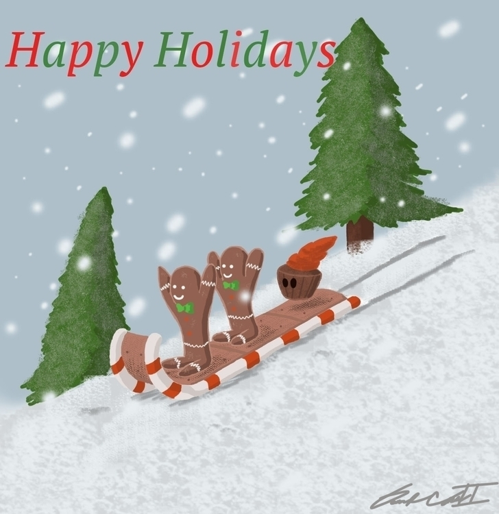 Holiday Greeting Card - illustration - darryldrain | ello