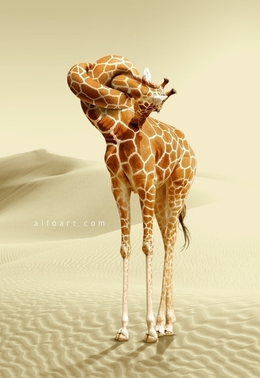 Giraffe Neck Knot Photo Manipul - alfoart | ello