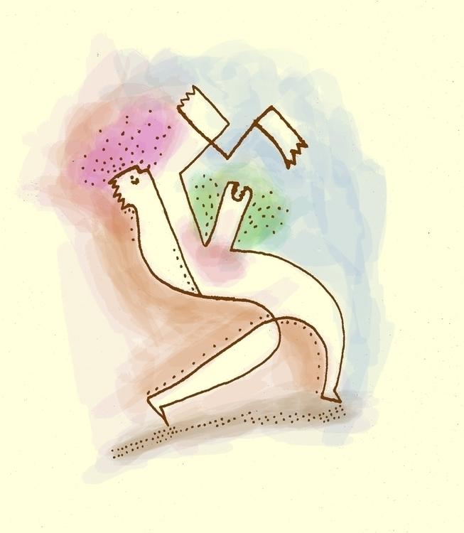 Martian Worm - illustration - shimaby | ello