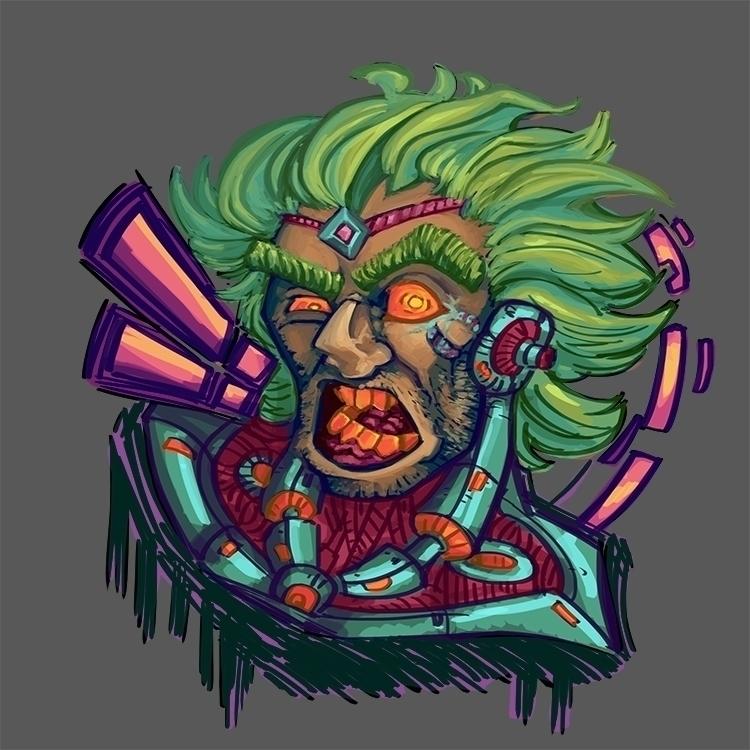 RoboMad - illustration, painting - sekroll123 | ello