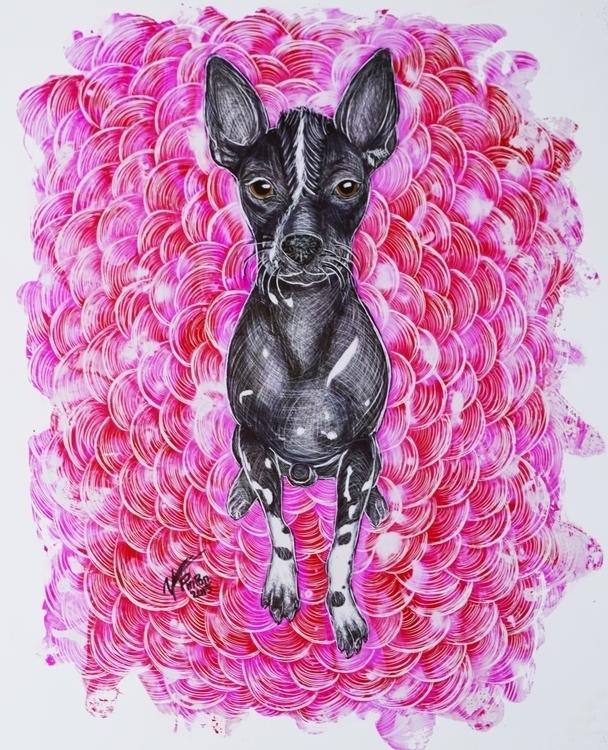 Tito - xoloitzcuintle, art, mexican - alejandropinpon   ello