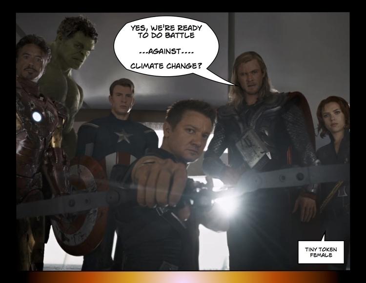 Avengers,irony,superherohumor,climate,climatechange,globalwarming - metabaron777 | ello