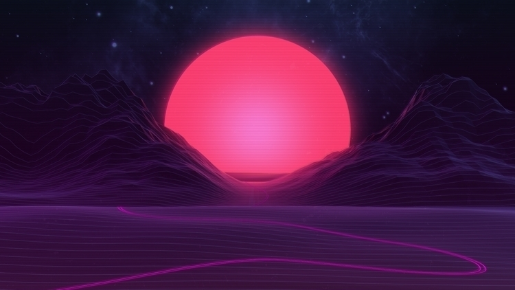 Sunset: dreamy sunset landscape - axiomdesign | ello
