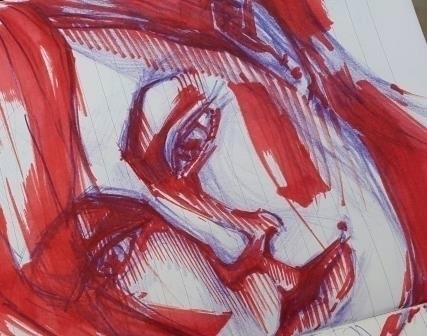 illustration, markers, painting - octoberrrr | ello