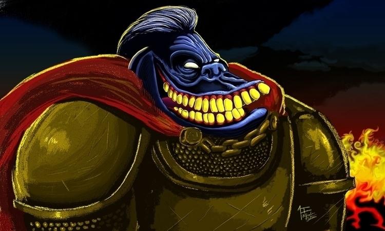 Kong King. Pintura digital hech - alfredointoci | ello