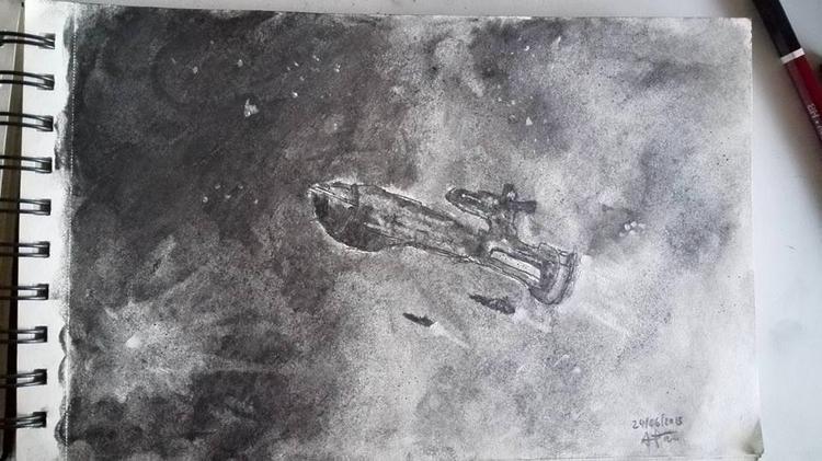 ship, starship, pencil, paper - albertpradells | ello