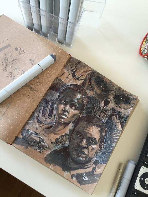 sketch sketchbook - madmax, furyroad - robertekblom | ello