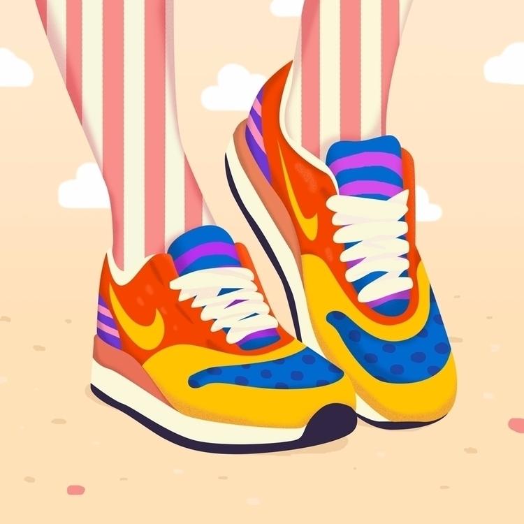 Magic Pop Art Shoes - Illustration - petraerikssonstudio   ello