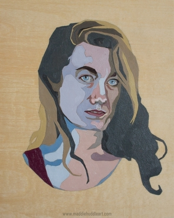 Chroma 5 Oil Wood - painting, portrait - maddiehud | ello