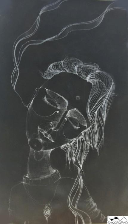 Indian girl - illustration, drawing - emilio-7671 | ello