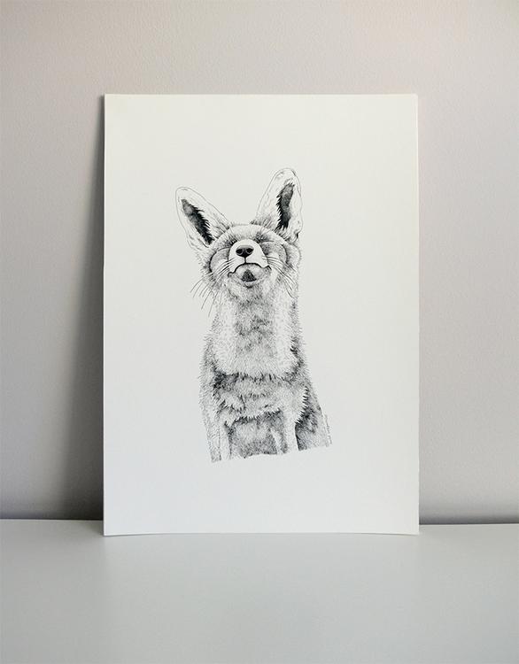 Fox. Indian ink paper 370gr. (4 - isabelvalfigueira | ello