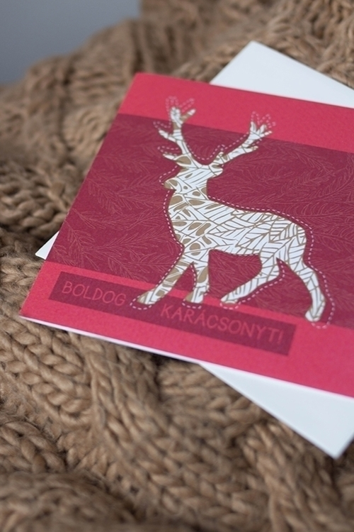 christmas, deer, reindeer, illustration - felichart | ello