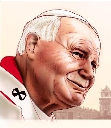 Pope Giovanni Paolo II - illustration - andreasasso | ello