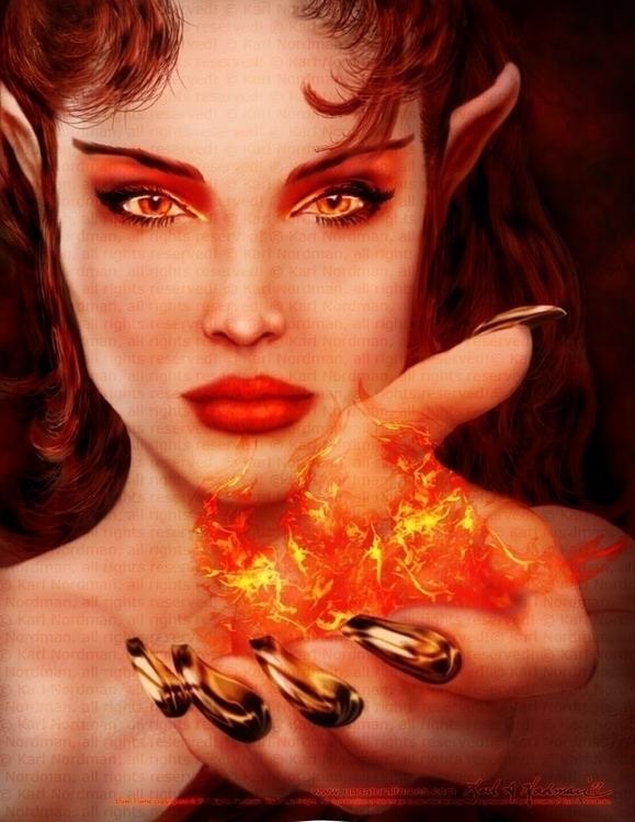 Elven Flame - thelycanknight   ello