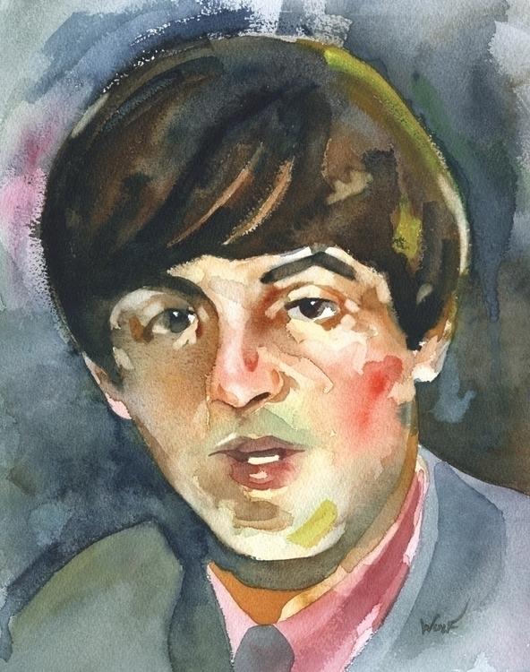 Paul - watercolor, paulmccartney - scottwulf | ello