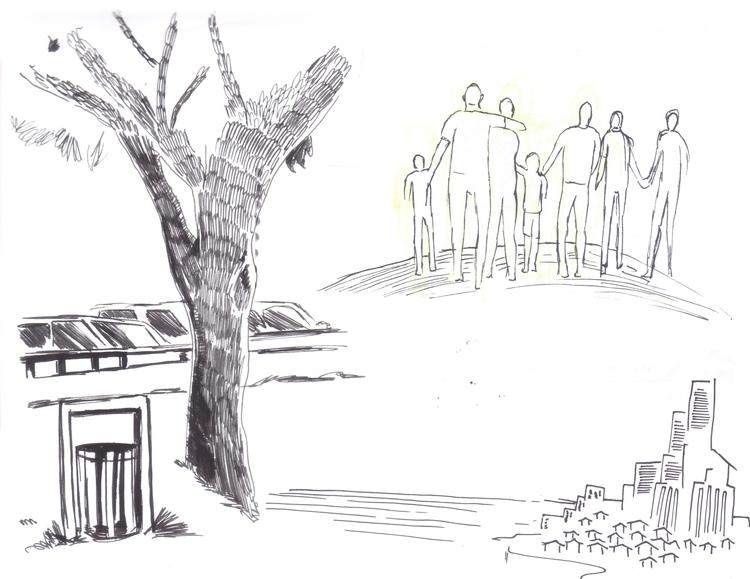 Dibujando en la calle - 5, trees - alfredointoci | ello