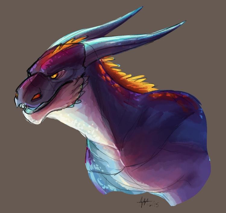 150614 Doodle good ol dragons y - madmeeper   ello
