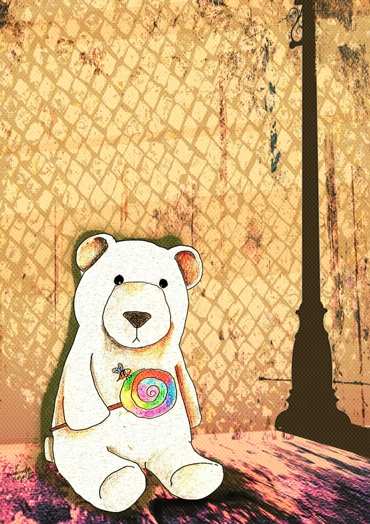 bear, lollipop, sadness, bee - amandaloyolla | ello
