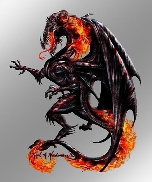 Black Dragon - thelycanknight | ello