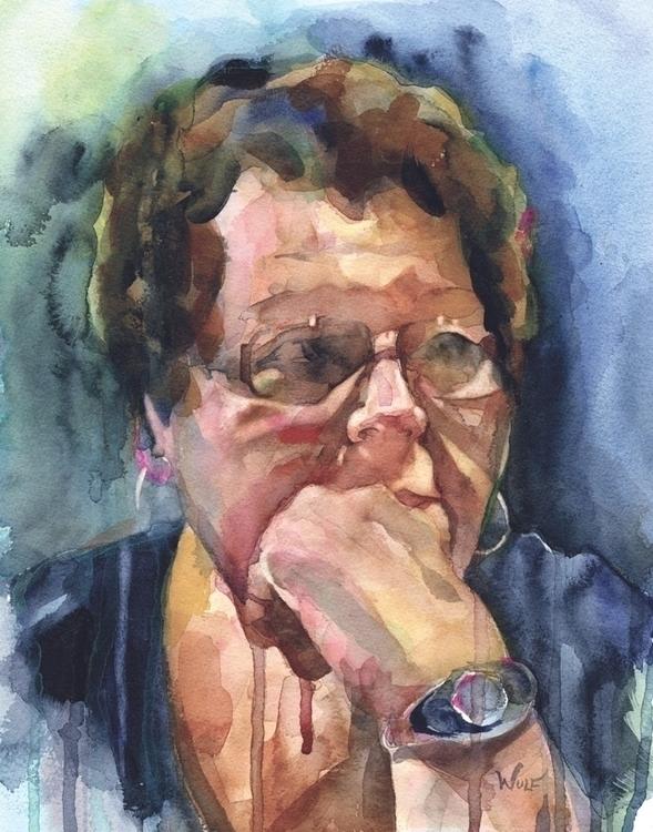 Sue - watercolor, portraitillustration - scottwulf | ello