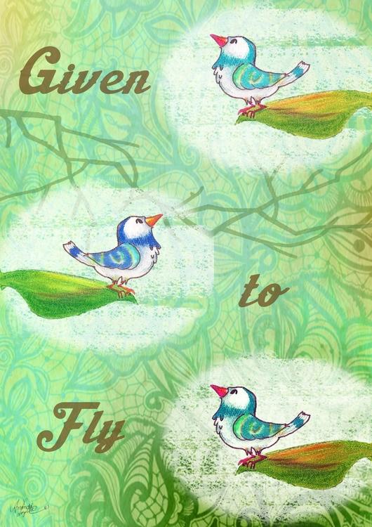 bird, poster, baby, giventofly - amandaloyolla | ello