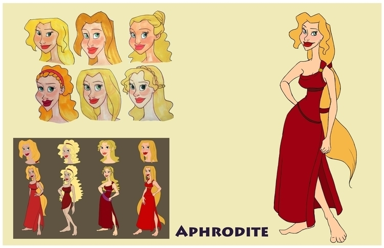 Aphrodite design sheet - aphrodite - gallagirl | ello
