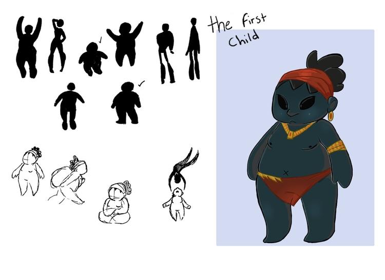 child 2 - illustration, characterdesign - rem-7093 | ello