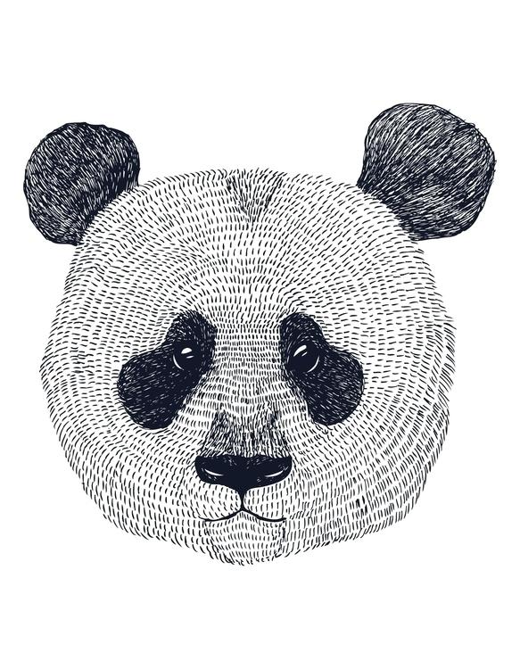 Panda Print Created iglo+indi A - karitasdottir | ello