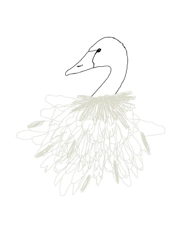 Swan Print Created iglo+indi AW - karitasdottir | ello