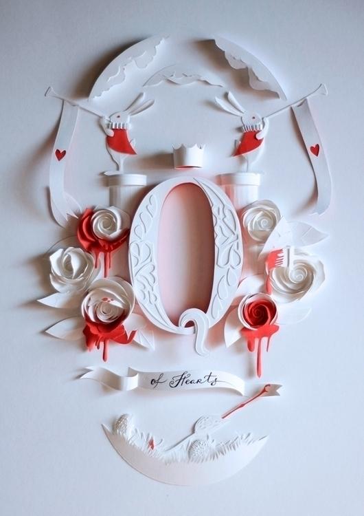 Hearts - paper, papercut, rabbit - talamaskanka | ello