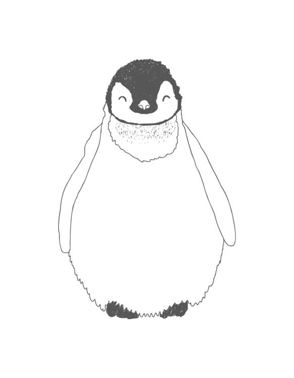 Penguin Print Created iglo+indi - karitasdottir | ello