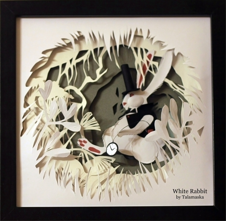 White Rabbit - whiterabbit, aliceinwonderland - talamaskanka | ello