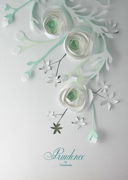 Prudence - ranunculus, flowers, paper - talamaskanka | ello